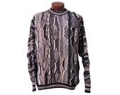 Large Neutral Men's Coogi Inspired Sweater Biggie Snoop Black Brown Tan White Gray Size Large
