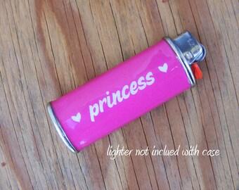 LIGHTER CASE Princess - Metal, Waterproof, Heavy duty, smoking, wrap, holder, case