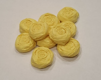 Yellow paper flower roses - Set of 20