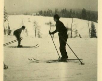 "Vintage Photo ""Winter Games"" Ski Snow Skiing Snapshot Photo Old Antique Photo Black & White Photograph Found Paper Ephemera Vernacular - 28"
