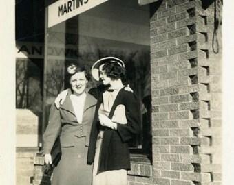 "Vintage Photo ""Friday Night at the Tavern"" Snapshot Antique Photo Black & White Photograph Found Paper Ephemera Vernacular - 25"