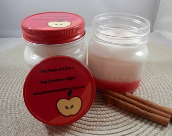 8 oz - Soy Cinnamon Apple Container Candle