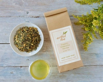 Organic Genmaicha Matcha Green Tea • 4 oz. Kraft Bag • Japanese Tea with Rice and Matcha • Loose Leaf Tea