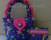 Little Girls Tinkerbell Bag with matching Coin Purse