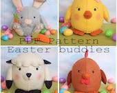 Easter buddies pdf pattern