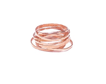 Rose Gold Romantic Stacking Ring