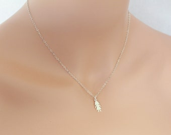 Little Girl Charm Necklace Sterling Silver Mothers Grandmothers Family