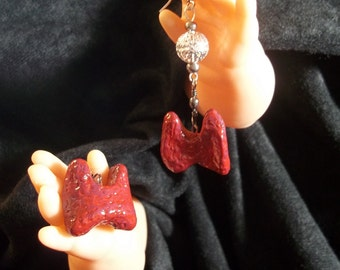 human thyroid statement earrings horror Halloween art jewelry macabre thyroid body part earrings original unusual handmade ooak art jewelry