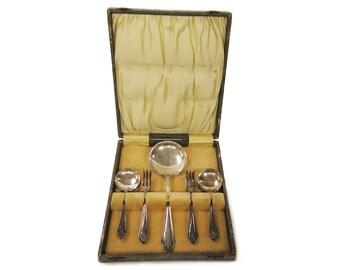 Antique Edwardian Dessert Flatware Dessert Spoons Dessert Forks Cake Forks Serving Spoon c.1900