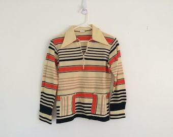 1960s MOD space age retro tunic blouse / shirt / top