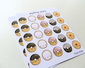 Cute stickers - DONUTS, perfect for your Kikki K, Erin Condren, Kate Spade planner