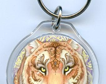 Mehndi Tigress Keychain