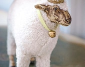 LARGE Sheep Statue, Figure, German Style Sheep, with Bell, Creche, Nativity
