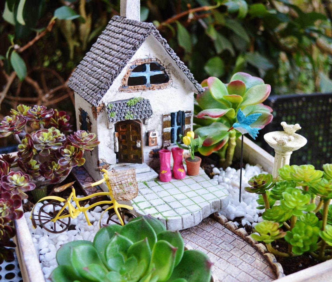 beach cottage garden kit miniature house wooden planter