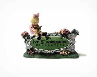 Ivy and Innocence Collection  Emily's Welcome Sign Figurine Numbered Decorative Collectibles Ornaments