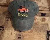 Toddler Youth  Baseball Hat Jeep  Baseball Cap Kids  4 Wheel Drive Hat Fits 1 Yr to 3 Yr