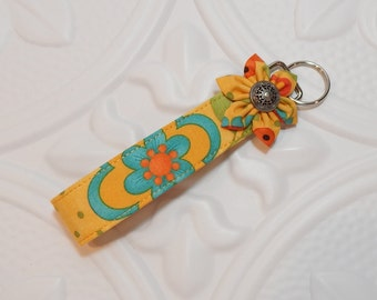 Fabric Key Fob - Key Fob - Key Chain - Wristlet Key Fob - Cute Key Chain