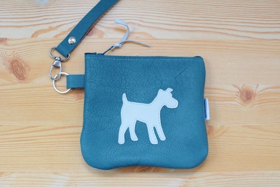 Leather coin purse,dog coin purse,blue leather purse,blue coin purse,leather pouch,leather red pouch,leather dog purse,dog purse,dog bag
