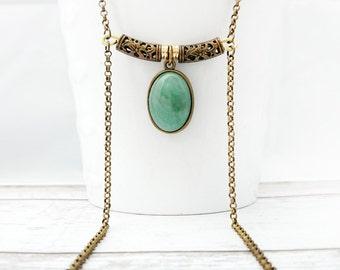 Green Aventurine Necklace - Handmade Jewelry