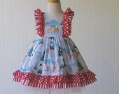 Rudolph Christmas Dress-- Very Limited- size 12 mos.-8y