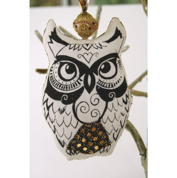 OWL ORNAMENT christmas ornaments holiday decor beaded ornaments christmas gift christmas tree ornaments owl gift owl decoration tree owl