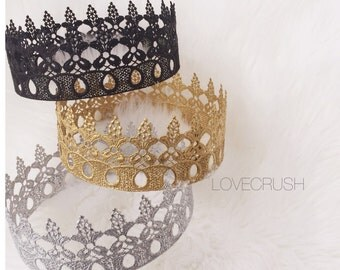 NEW || Ready to Ship || Peyton || Unisex || full size lace crown || photography prop|| Toddler-Adult || custom sizes || Love Crush Exclusive