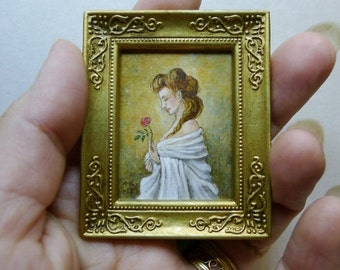 SALE 15% OFF! 1/12 scale Miniature original art for dollhouse by Mollamari