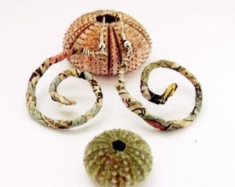 Spiral earrings, paper earrings, wire wrapped earrings, hoop earrings, recycled paper, hoop jewelry, statement jewelry, hippie earrings