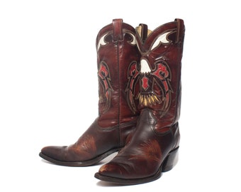 10.5 D   Men's TEXAS Boot Co. Eagle Inlay Western Boots