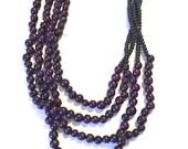 Multi Strand Acai Seed Necklace / Statement Necklace/ Boho Jewelry