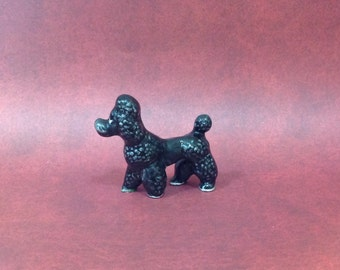 Miniature Ceramic Poodle Figurine