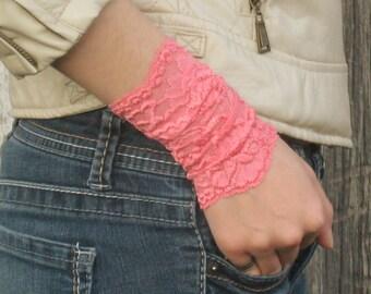 Lace Wrist Cuff, Tattoo Cover, Boho Bracelet, Summer Wrist Cuff