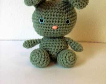 Sweet Bunny - Light Sage Green Bunny Doll (Finished Doll)
