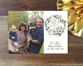 There Is Wonderful Joy Ahead (Pink/Blush Edition) - 5x7 Christmas / Holiday Photo Card - Digital Copy Only