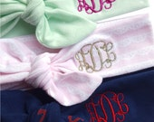 Monogrammed baby headband - Personalized baby headbands - Choose your fabric - Build your own headband set - Top knot baby headband