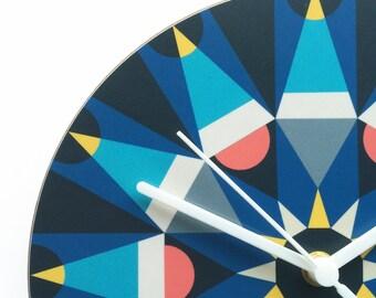 Galaxy clock - Navy & turquoise