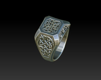 wedding ring  signet ring celtic ring mens rings signet ring  celtic jewelry celtic ring mens signet ring RS1B