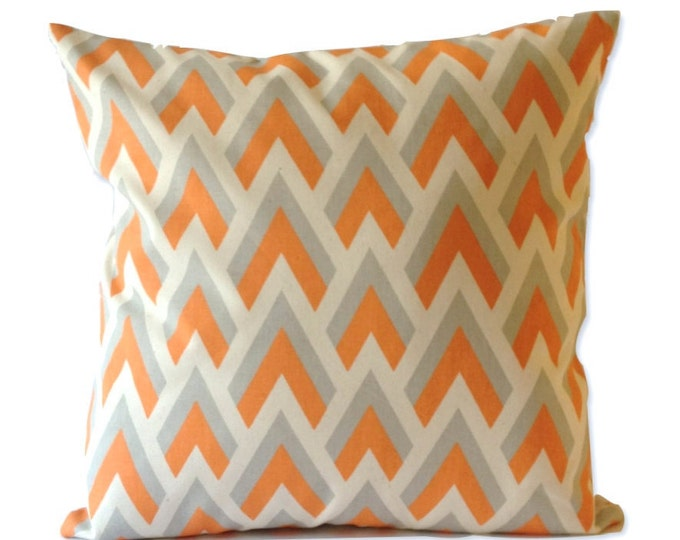 Decorative Pillow Cover SET OF TWO 16x16 or 18x18 Arrow Print - Medium Weight Cotton- Invisible Zipper Closure