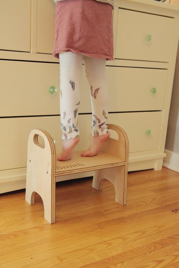 Child S Step Stool Handmade Wooden Stepping Stool