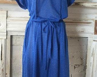 1970's vintage blue dress