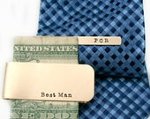 Personalized Men's Gift Set - Tie Bar and Money Clip Gift Set - Wedding Gift for Groom - Groomsmen Gift Set - Unique Gift for Dad