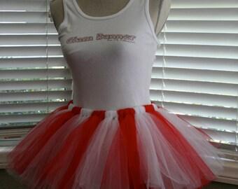 Candy Striper (Red & White) Tutu