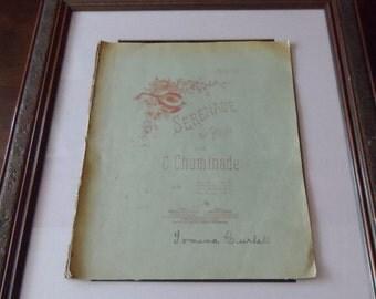 Art, piano sheet music, Antique