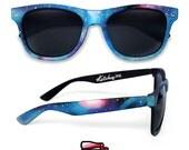 Space Galaxy Nebula Cosmic Custom Wayfarer style sunglasses '80s retro hand painted