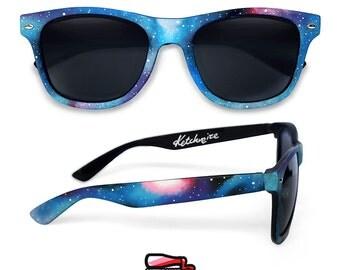 Galaxy Customized Wayfarer sunglasses festival personalized bridesmaid gift idea for men women wedding sunglasses Nebula Space astronomy