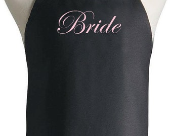 Bride Apron Custom Name Gift For Wedding Bachelorette, Cook, Baker, Chef, Baby Shower, Holiday, Groom, Grill, Customized, BBQ, Kitchen
