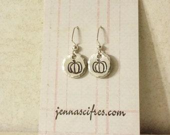 Pumpkin Earrings - Fall Earrings - Autumn Earrings - Halloween Jewelry - Morton Illinois Pumpkin Capital of the World