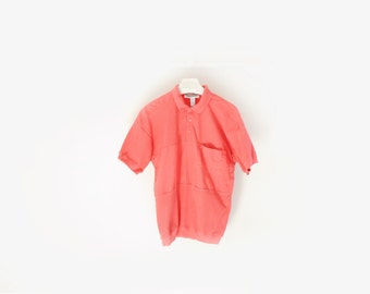 Vintage Expressions Pink Lightweight Polo Shirt, Mens Size M