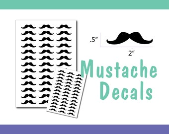 Mustache Decals
