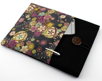 12 inch Macbook Cover, Custom Laptop Case ,Dell Inspiron Case ,Hp Pavilion Case,Cherry Blossoms Mari-balls Grey